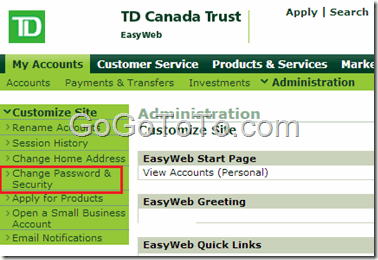 Change Td Bank Online Account Password Go Find To Get