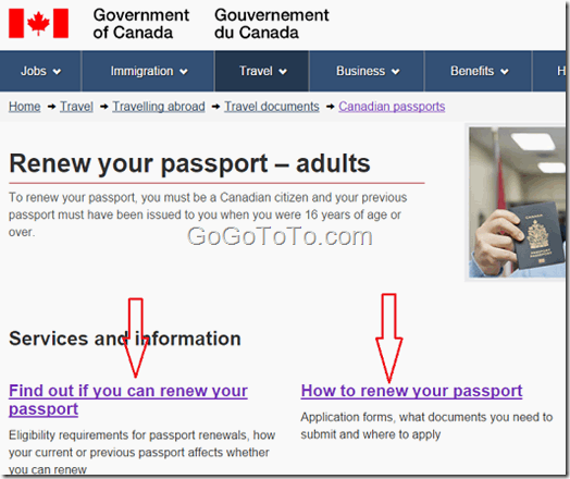 How To Renew Canadian Passport In Canada 2016 Go Find To Get